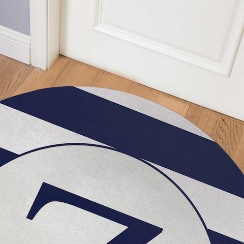 MONO NAVY STRIPED Z Indoor Floor Mat By Kavka Designs