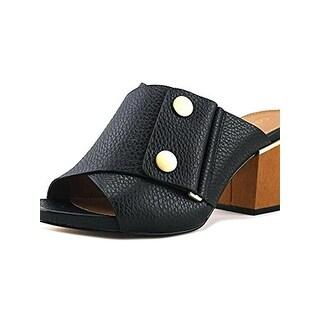 Calvin Klein Womens Joelle Mules Open Toe Textured - 6.5 medium (b,m)