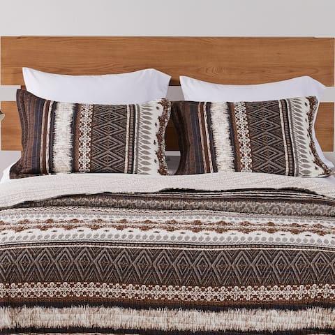Greenland Home Fashions Southwest All-Cotton Pillow Sham Set