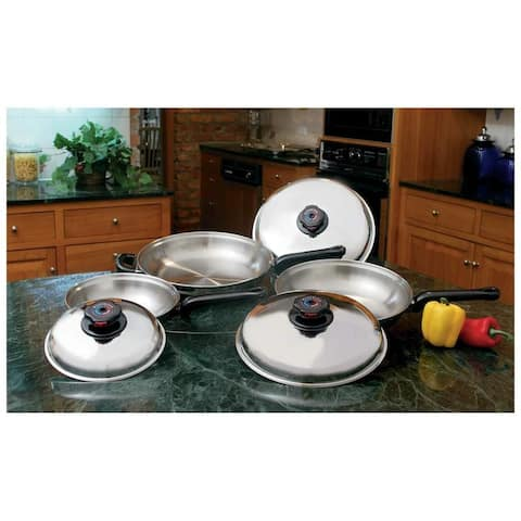 Precise Heat 6pc 12-Element T304 Stainless Steel Skillet Set