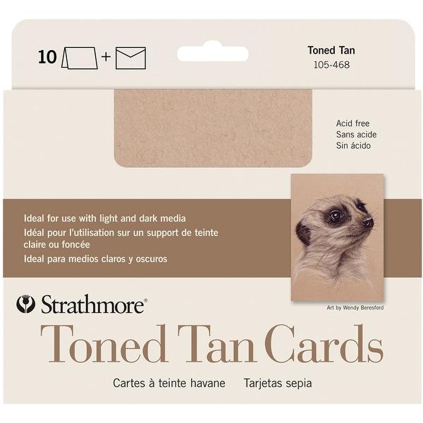 "Strathmore Cards & Envelopes 5""X6.875"" 10/Pkg-Toned Tan"
