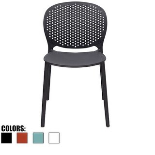 2xhome Outdoor Indoor Designer Home Plastic Armless Dining Pool Chair With Matte Finish