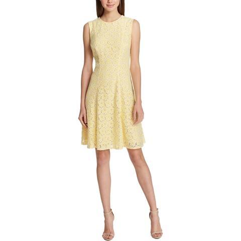 Tommy Hilfiger Womens Sundress Lace Knee-Length