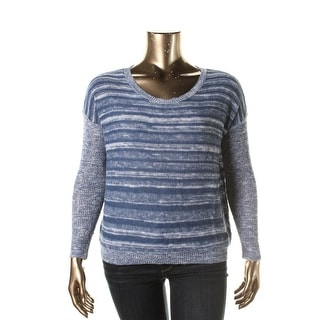 Eileen Fisher Womens Linen Marled Pullover Sweater