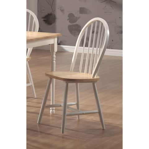 Framington Country Two-tone Wood Dining Chairs (Set of 4)