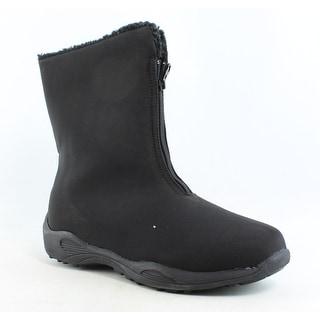Propet Womens Madison Mid Zip-W Black Snow Boots Size 9.5