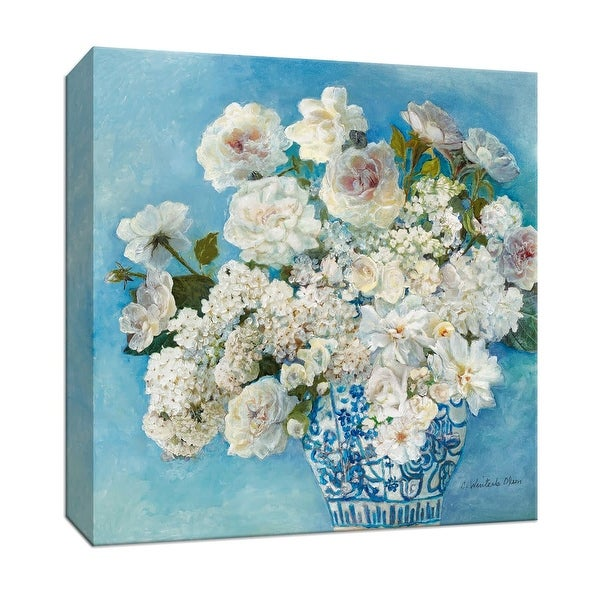 """PTM Images 9-147188 PTM Canvas Collection 12"""" x 12"""" - """"Savannah's Garden II"""" Giclee Flowers Art Print on Canvas"""