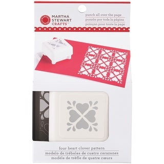 Martha Stewart Punch All Over The Page Pattern Punch-Heart Clover, 1.5""
