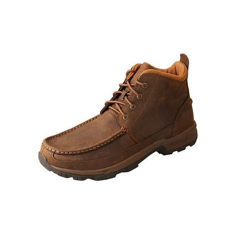 Twisted X Outdoor Boots Mens Hiker Leather Distressed Saddle