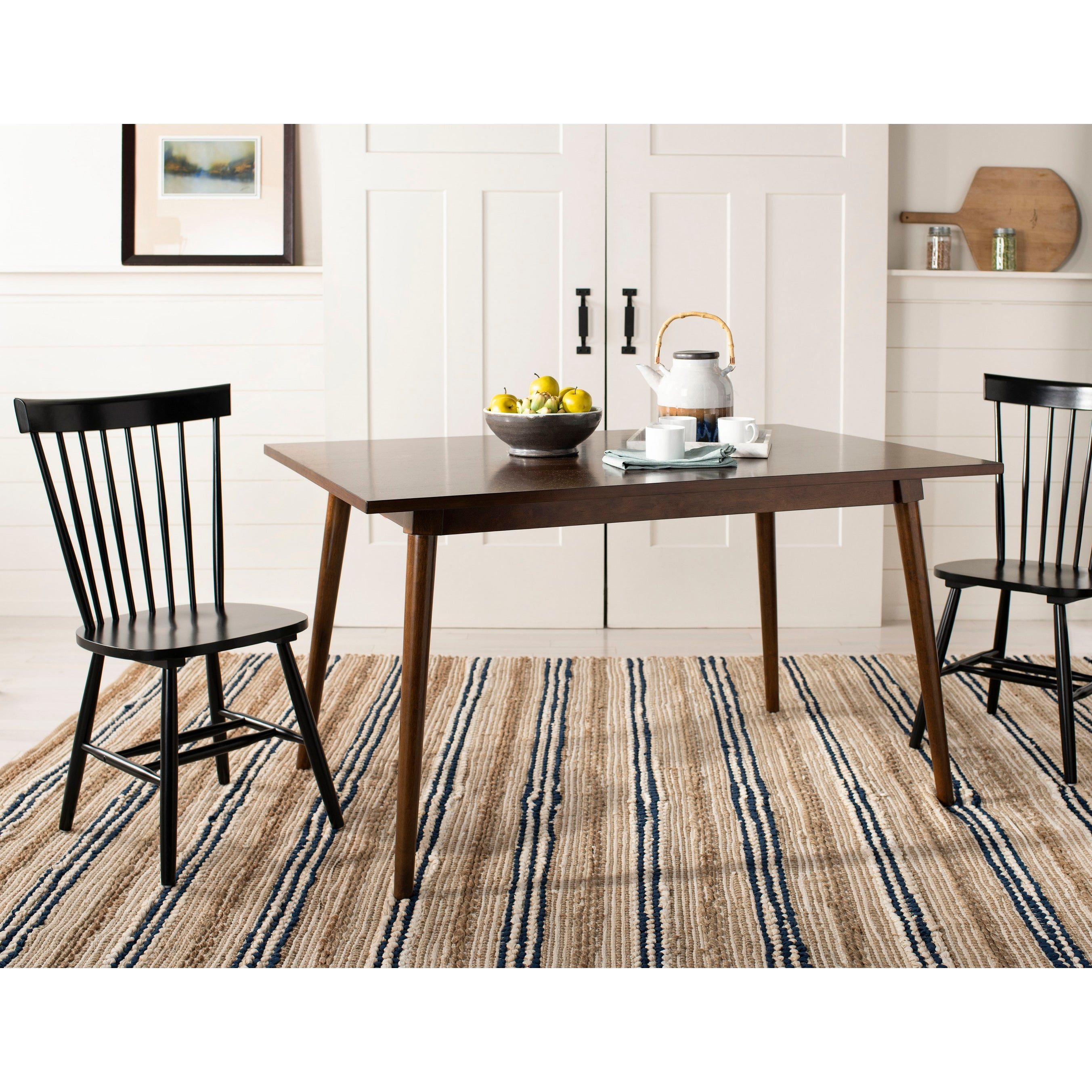 Shop Safavieh Country Classic Dining Country Lifestyle Spindle Back Black Dining Chairs Set Of 2 20 5 X 21 X 36 On Sale Overstock 6423297