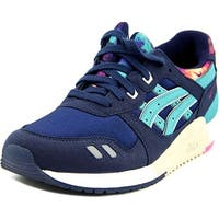 Asics Gel Lyte III Gs Youth  Round Toe Suede Blue Sneakers
