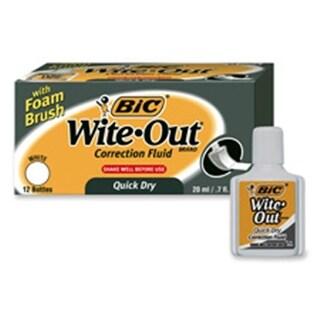 Bic Corporation Correction Fluid- Quick Dry Formula- 22ml- White