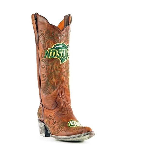 Gameday Boots Womens College Team North Dakota Bison Brass