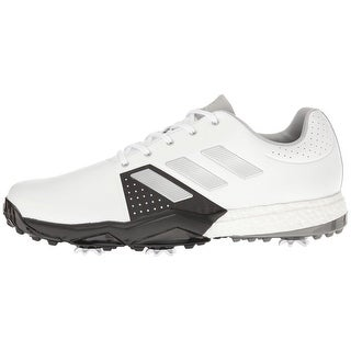 Adidas Men's Adipower Boost 3 White/Silver Metallic/Black Golf Shoes Q44756/Q44762 (More options available)