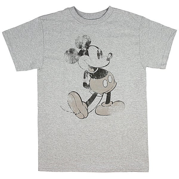 bc21a5d27 Shop Disney Mickey Mouse T Shirt Distressed Original Vintage Adult Men's  Tee - On Sale - Free Shipping On Orders Over $45 - Overstock - 22824967