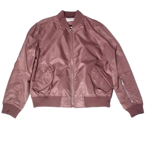 The Very Warm Muave Pink Mens Size Large L Full-Zip Bomber Jacket