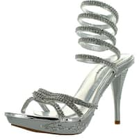 Delicacy Womens Delicacy-02 Fashion High Heel Platform Sandals
