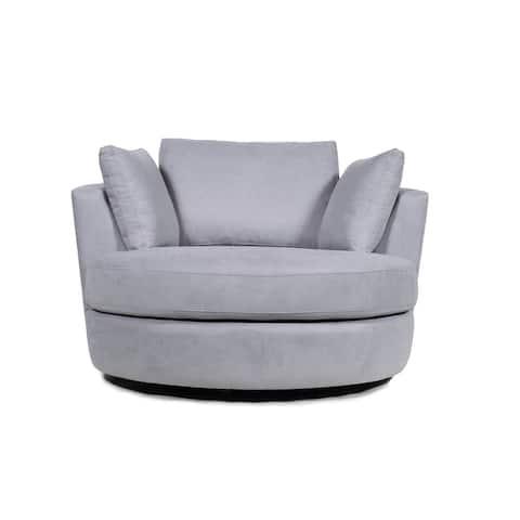 "53.6"" Elegant Barrel Chair Round"