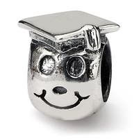 Sterling Silver Reflections Kids Happy Graduate Bead (4mm Diameter Hole)
