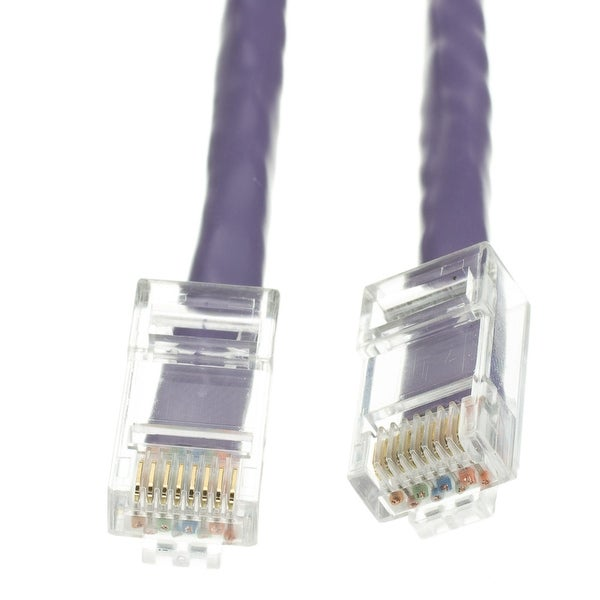 Offex Cat5e Purple Ethernet Patch Cable, Bootless, 50 foot
