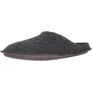 Crocs Womens Classic Mule Slippers Textured Lined - 4 medium (b,m)