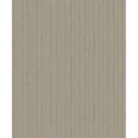 Kinsley Coffee Textured Stripe Wallpaper - 21in x 396in x 0.025in