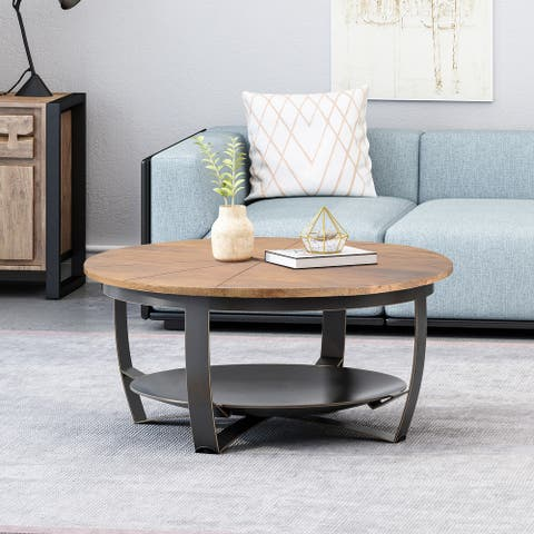 Hadfield Boho Mango Coffee Table by Christopher Knight Home