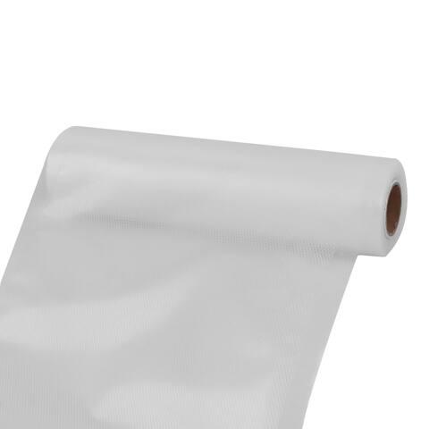 Household Refrigerator PVC Meat Fruit Food Storage Bag Vacuum Roll White 5M Length