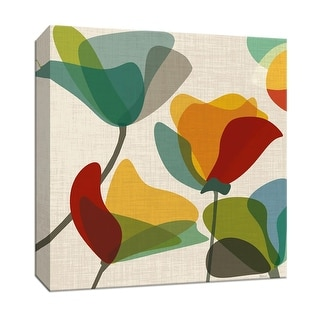 """PTM Images 9-146794  PTM Canvas Collection 12"""" x 12"""" - """"Flower Shapes II"""" Giclee Flowers Art Print on Canvas"""