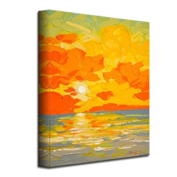 Gravity Sunrise' Scenic Coastal Canvas Wall Art by Sarah LaPierre