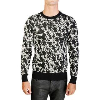 Dior Homme Virgin Wool Floral Crewneck Sweater Black - M