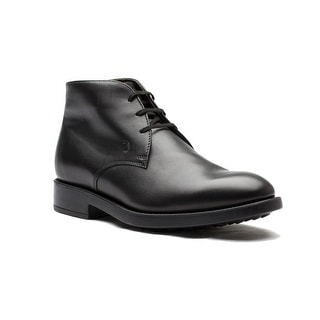 Tod's Men's Leather Polacco Nuovo Esquire Boot Shoes Black