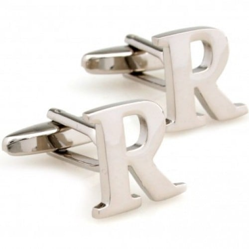 Letter R Alphabet Initial Cufflinks