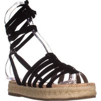 Sam Edelman Womens Circus Open Toe Casual Espadrille Sandals - Black - 5.5