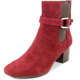 Bandolino Lorillard Square Toe Suede Ankle Boot