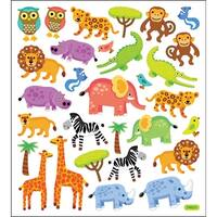 Multicolored Stickers-Jungle Animals