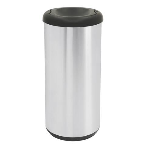Tramontina 10 Gal Swivel Top Waste Bin - Round Shape - SS