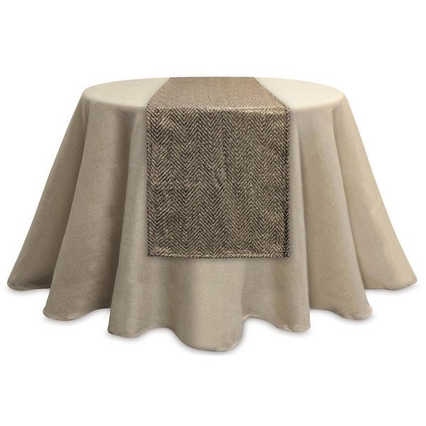 shop 72 luxury lodge decorative metallic gold and brown chevron rectangular table runner on. Black Bedroom Furniture Sets. Home Design Ideas