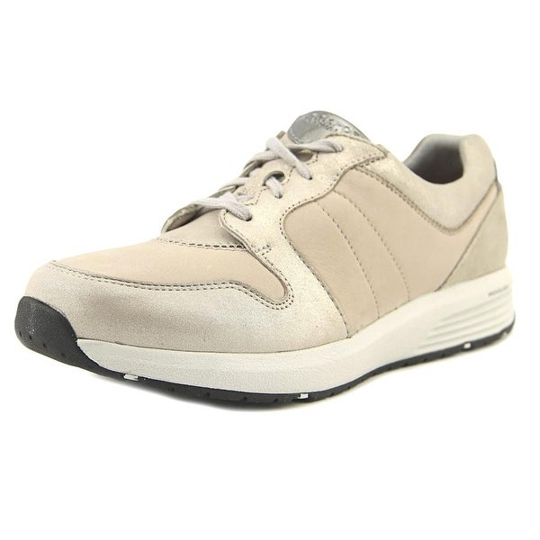 Rockport Derby Trainer Women N/S Round Toe Leather Tan Sneakers