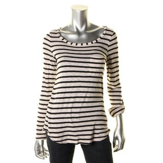 Splendid Womens Pullover Top Striped Scoop Neck - s