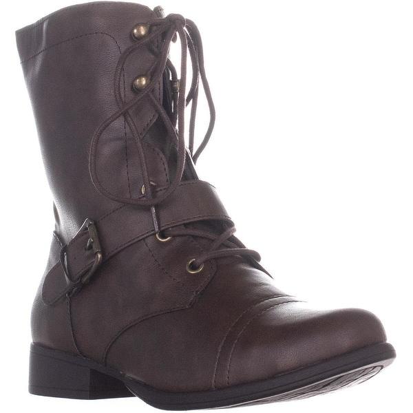 AR35 Farrahh Combat Boots, Brown