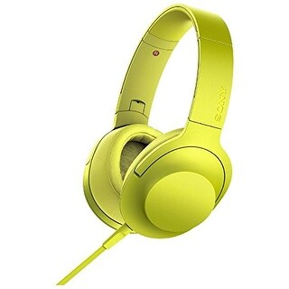 Sony MDR-100AAP h.ear on High-Resolution Dynamic Stereo Headphones w/ Inline Mic (Lime Yellow)