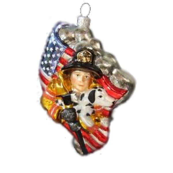 "Polonaise ""Hero"" Fireman Christmas Ornament #AP0315"