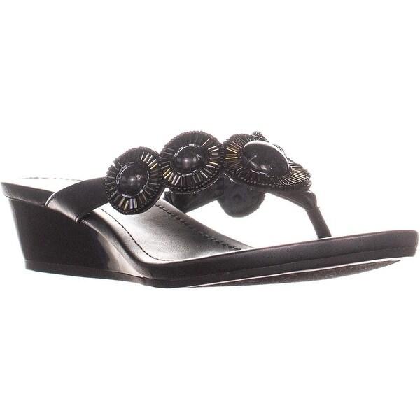 f5cb48b7e Shop Bandolino Briah Embellished Thong Wedge Sandals