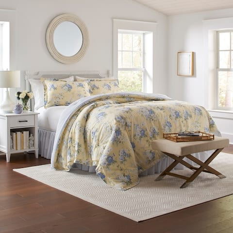 Laura Ashley 100% Cotton Percale_Maybelle - Yellow Comforter Set