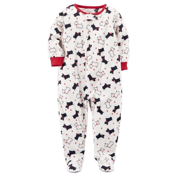 3ea5ed908f24c Shop Carter's Little Girls' 1-Piece Dog Fleece PJs, 3-Toddler - 3T - Free  Shipping On Orders Over $45 - Overstock - 19970854