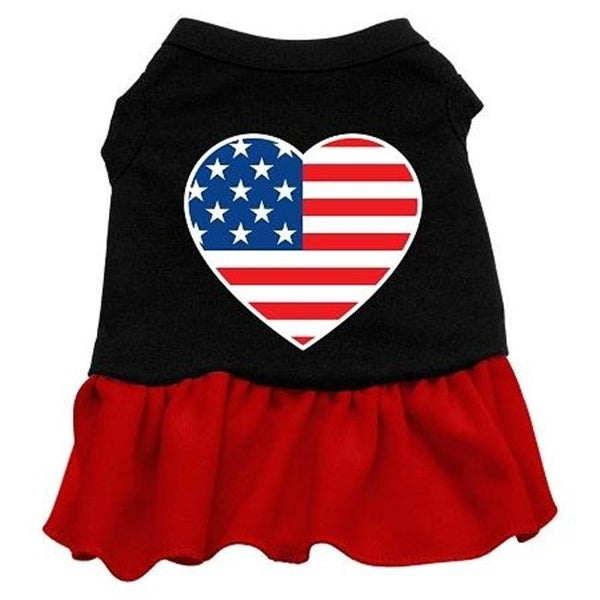 5da827c1bbde Shop American Flag Heart Screen Print Dress Black with Red XS - 8 - Free  Shipping On Orders Over  45 - Overstock.com - 26827674