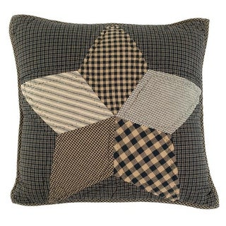 16 x 16 in. Farmhouse Star Filled Pillow Quilted - Tan White