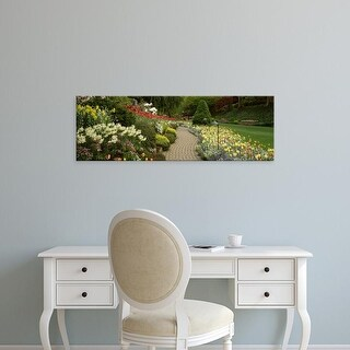 Easy Art Prints Panoramic Images's 'Flowers, Butchart Gardens,Vancouver Island, British Columbia, Canada' Canvas Art