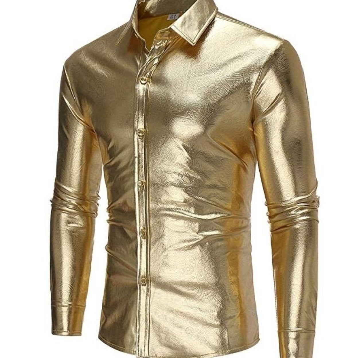 WAYA Mens Hisper Long Sleeve Slim Fit Button Up Dress Shirts